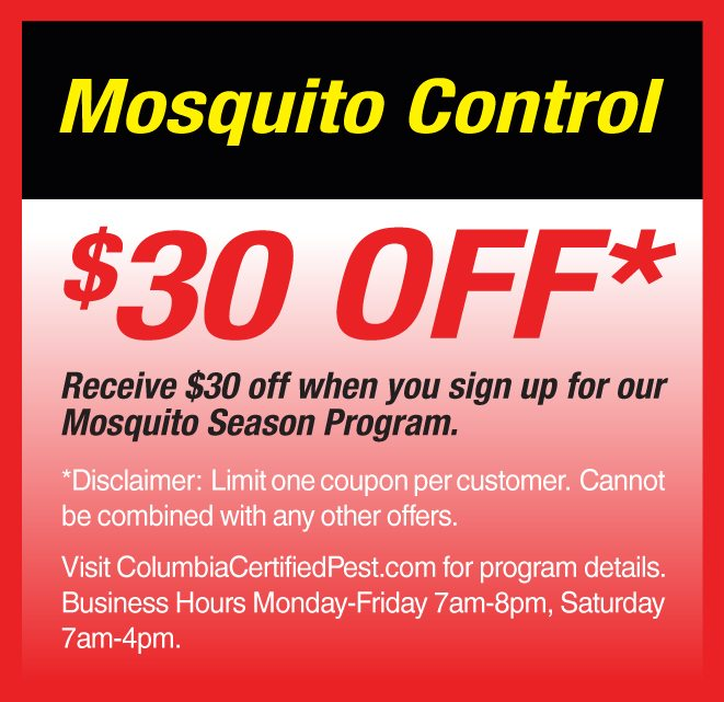 Mosquito control and pest control in columbia south carolina